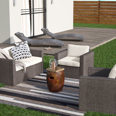 Carrigan 5 Piece Patio Set with Cushion