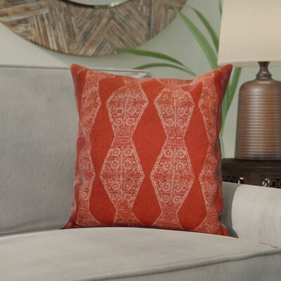 Soluri Pyramid Striped Geometric Throw Pillow Size: 16 H x 16 W x 2 D, Color: Red