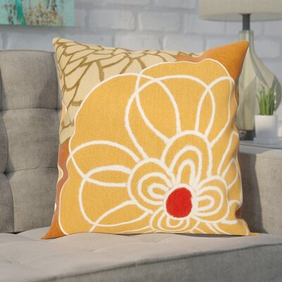 Tengan Disco Throw Pillow Color: Orange