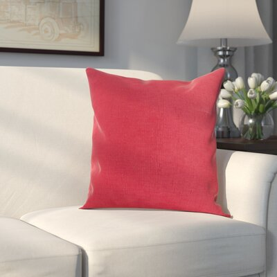 Verrett Solid Indoor/Outdoor Throw Pillow Color: Sangria, Size: 17 H x 17 W