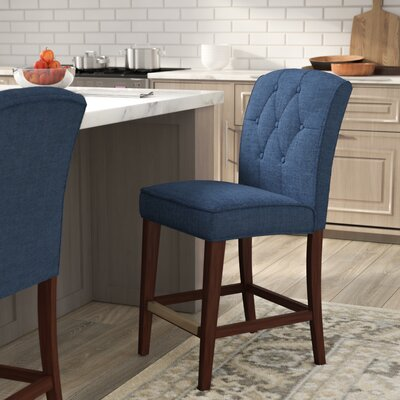 Cayman 40 Bar Stool Upholstery: Navy