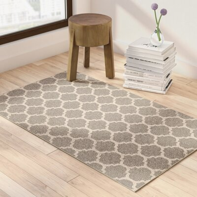 Moore Gray Area Rug Rug Size: Rectangle 33 x 53