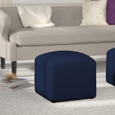 Houghton Suede Ottoman Color: Navy