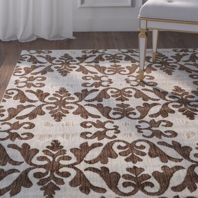 Margerite Ivory Area Rug Rug Size: Rectangle 5 x 7