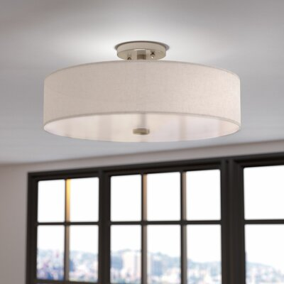 Alina 4-Light Semi Flush Mount Finish: Brushed Nickel