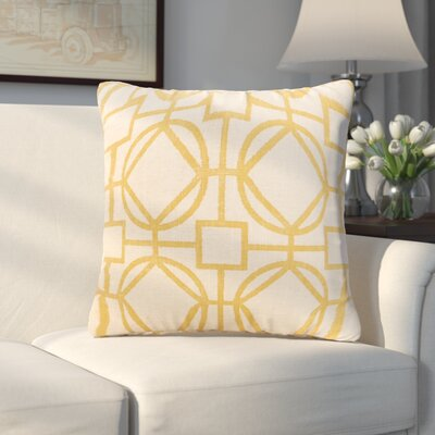 Applewood Throw Pillow Color: Nolo Lemon, Size: 26 X 26