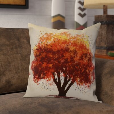 Brookfield Bount Outdoor Throw Pillow Size: 18 H x 18 W x 2 D, Color: Brown