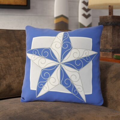 Meigs Night Star Outdoor Throw Pillow Size: 18 H x 18 W, Color: Royal Blue