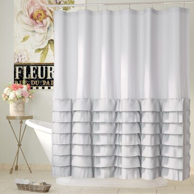 Peeples Ruffle Shower Curtain Color: Gray