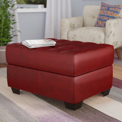 David Cocktail Ottoman Upholstery: Soho Cardinal Bonded Leather Match