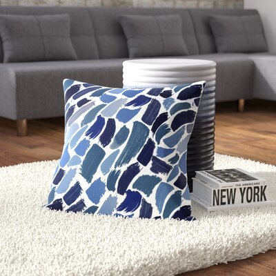 Bueche Abstract Outdoor Throw Pillow Size: 20 H x 20 W, Color: Blue