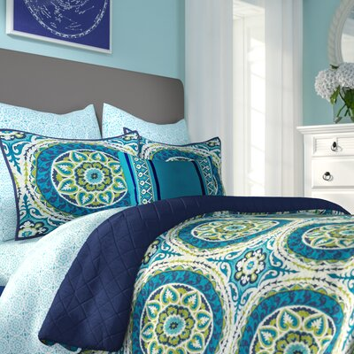 Almerton Quilt/Coverlet Set Size: Queen, Color: Blue