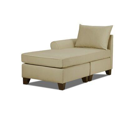 Adelina Left Chaise Lounge Upholstery: Khaki