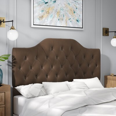 Amy Upholstered Panel Headboard Size: Full/Queen, Upholstery: Coffee