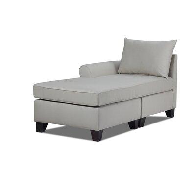 Adelina Chaise Lounge Upholstery: Light Slate