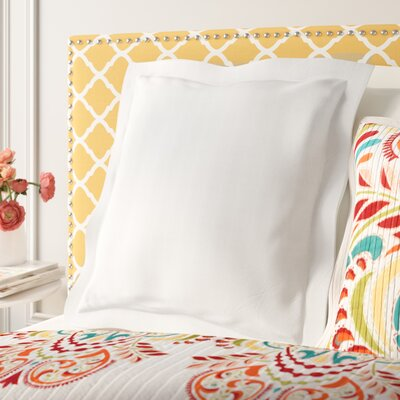 Fresh Ideas Tailored Euro Sham Color: White