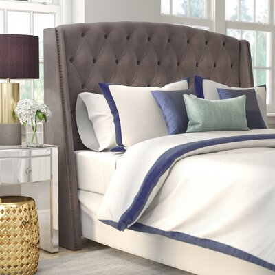 Andrew Upholstered Panel Headboard Size: California King