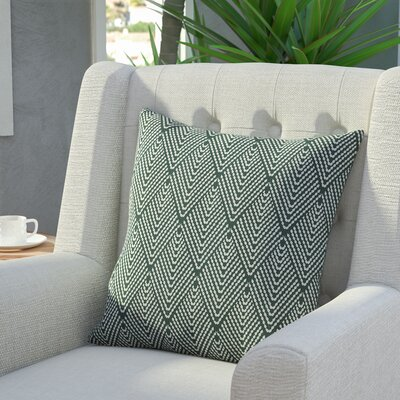 Waller Lifeflor Geometric Throw Pillow Size: 18 H x 18 W, Color: Green