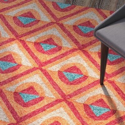 Helfrich Red/Orange/Turquoise Indoor/Outdoor Area Rug