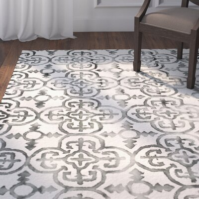 Naples Park Hand Tufted Wool Ivory Area Rug Rug Size: Square 7