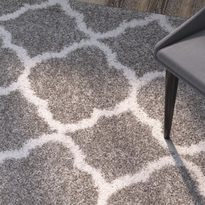 Helsel Gray Area Rug Rug Size: Rectangle 9 x 12