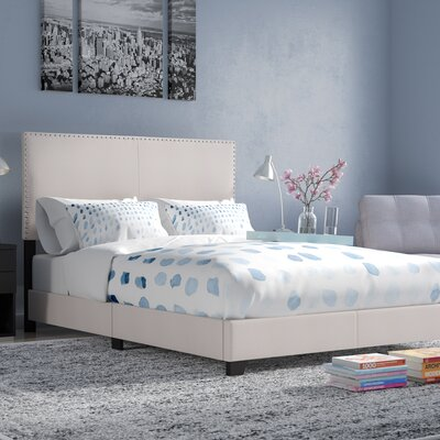 Amsbury Upholstered Panel Bed Upholstery: Ivory, Size: California King