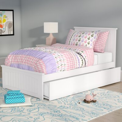 Bermuda Platform Bed with Trundle Size: Twin, Finish: White