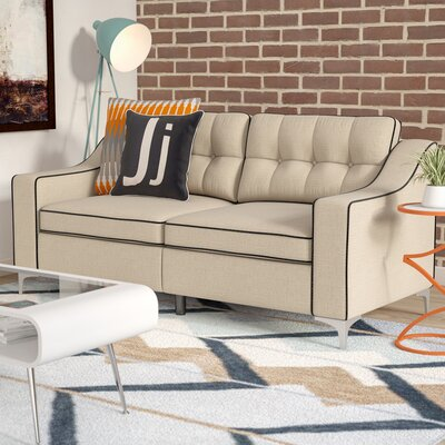 Madilyn Contemporary Sofa Upholstery: Beige
