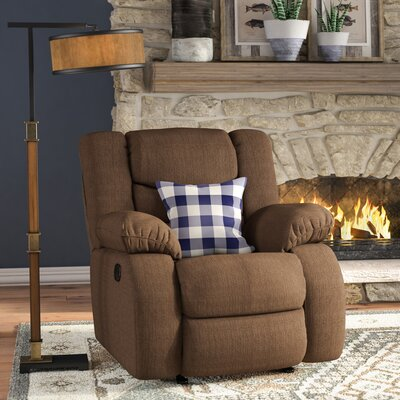 Ridgemont Rocker Recliner Upholstery: Chocolate