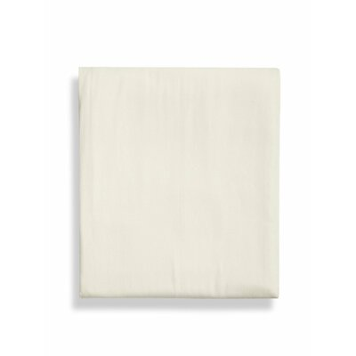 Cloud Brushed Flannel Fitted Sheet Color: Ivory, Size: Twin