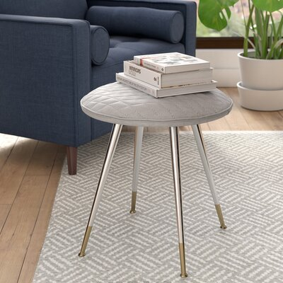 Max 19.29 Bar Stool Upholstery: Light Gray