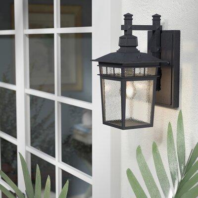 Valeri 1-Light Outdoor Wall Lantern Color: Textured Black
