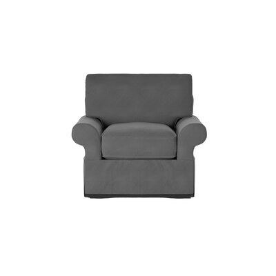 Casey Armchair Body Fabric: Sunbrella� Canvas Charcoal