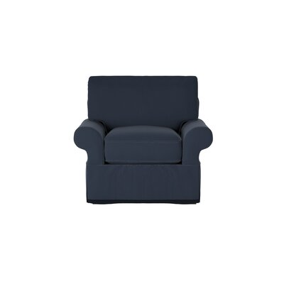 Casey Armchair Body Fabric: Spinnsol Indigo