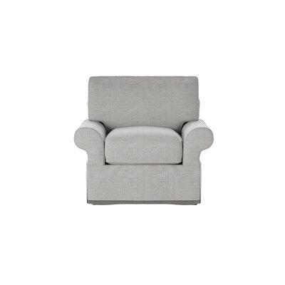 Casey Armchair Body Fabric: Pebble Greystone