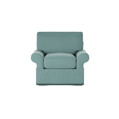 Casey Armchair Body Fabric: Spinnsol Azure