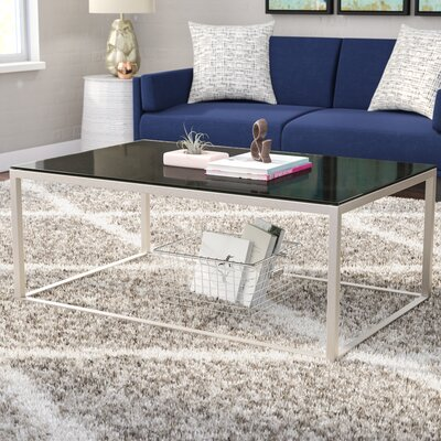Buffington Stainless Steel Coffee Table Top Finish: Black
