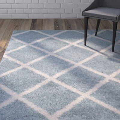 Helsel Blue Area Rug Rug Size: 51 x 76