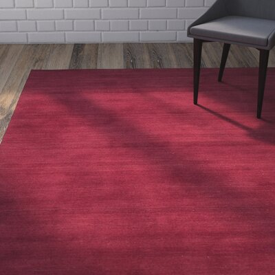 Trost Red Area Rug Rug Size: 5 x 8