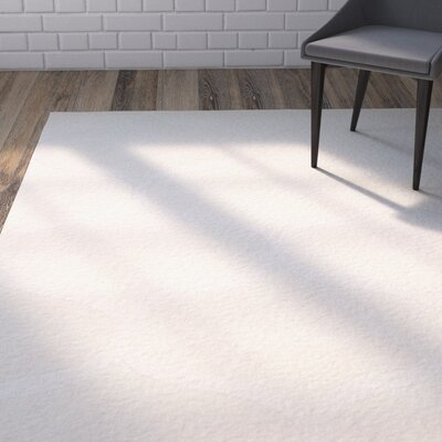Charlenne Hand-Tufted Ivory Area Rug Rug Size: Rectangle 26 x 8