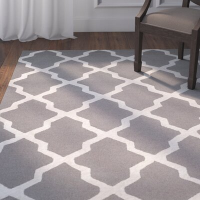 Parker Lane Hand-Tufted Gray/Ivory Area Rug Rug Size: Square 6 x 6