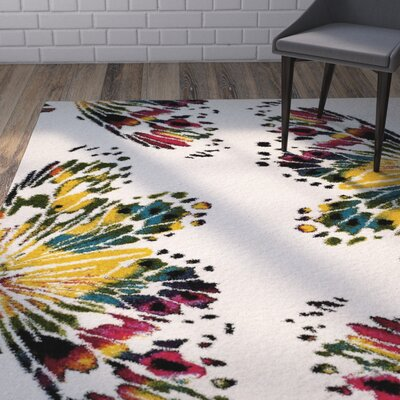 Helmuth Red/Yellow Area Rug Rug Size: Rectangle 67 x 92
