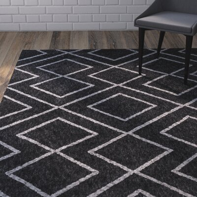 Heimbach Graphite Area Rug Rug Size: Rectangle 3 x 5
