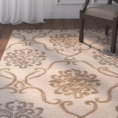 Jillian Hand-Tufted Brown/Gray Area Rug Rug Size: 5 x 8