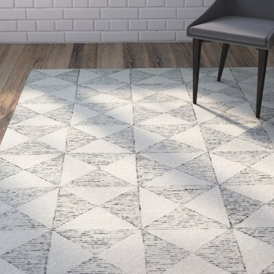 Cilegon Handmade Ivory Area Rug Rug Size: Rectangle 8 x 10