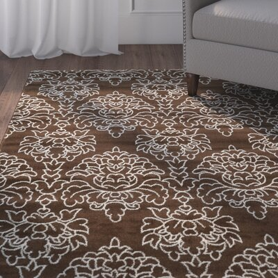 Kristine Brown Area Rug Rug Size: Rectangle 5 x 7