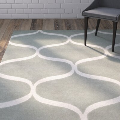 Martins Hand-Tufted Gray/Ivory Area Rug Rug Size: Rectangle 4 x 6