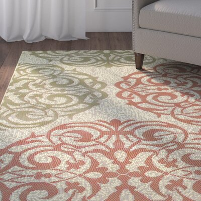 Janie Cream Indoor/Outdoor Area Rug Rug Size: Runner 23 x 710