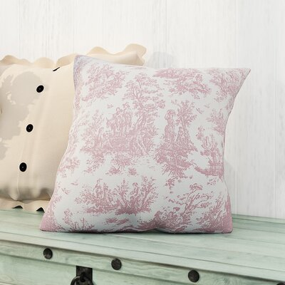 Leflore 100% Cotton Throw Pillow Color: Baby Pink, Size: 18 H x 18 W