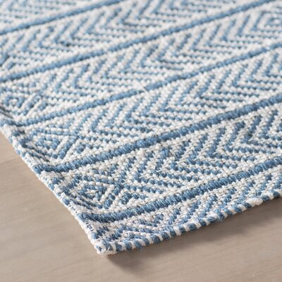 Dina Hand-Woven Blue Area Rug Rug Size: 8 x 10